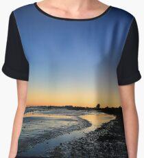 Sunset Campbells Cove Women's Chiffon Top