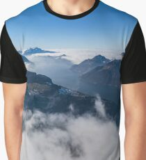 Panoramic aerial view to Luzern lake from high peak, Switzerland Graphic T-Shirt
