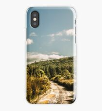 Outback country road panorama iPhone Case/Skin