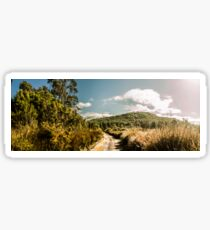 Outback country road panorama Sticker