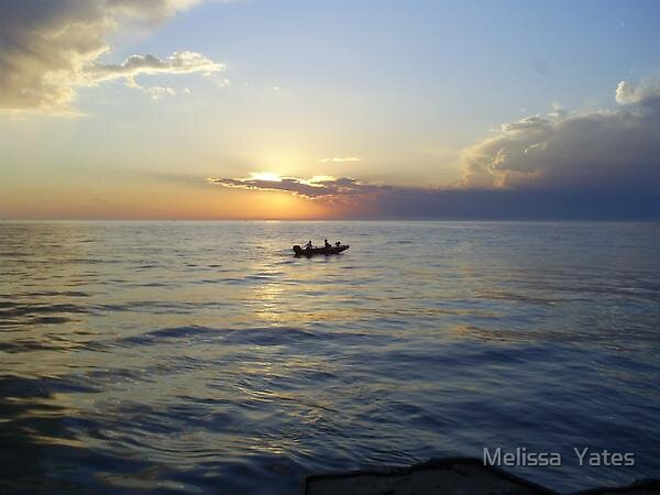 Fishing at Sunset by Melissa  Ousley