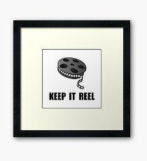 Keep Movie Reel Framed Print