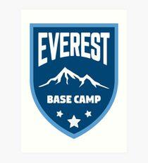 Everest-Basislager Kunstdruck