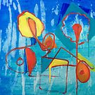 Deconstructed Flowers (AKA Sunflowers Abstraction 2) (Oils - 51 x 61cm) by ArtStudioV