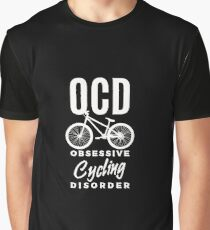 OCD Obsessive Cycling Disorder - Funny Cycler Bicycle  Graphic T-Shirt