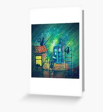 Tardis and Cats Greeting Card