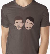 The Chainsmokers Faces illustration Mens V-Neck T-Shirt