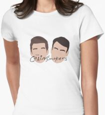 The Chainsmokers Faces illustration Womens Fitted T-Shirt