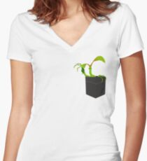 Bowtruckle in the pocket - remastered Women's Fitted V-Neck T-Shirt