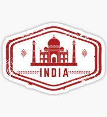 Indien Stempel Sticker