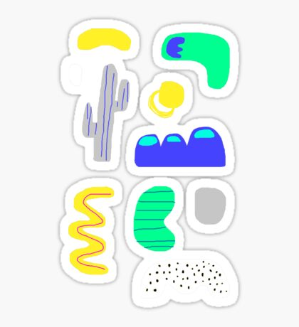 Night in the desert Sticker