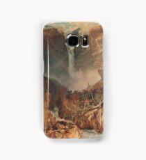 The Reichenbach falls by J M W Turner Samsung Galaxy Case/Skin