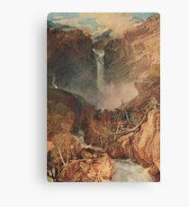 The Reichenbach falls by J M W Turner Canvas Print