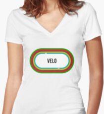 Velodrome - Cycling T shirt Women s Fitted V-Neck T-Shirt 1703b8514