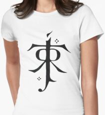 Tolkien symbol Womens Fitted T-Shirt
