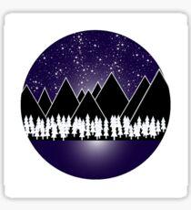 Starlit Mountains Sticker