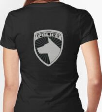 S.P.D Badge Women's Fitted V-Neck T-Shirt