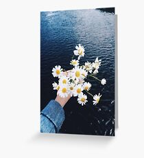 River Flowers Greeting Card