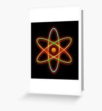 Atomic. Greeting Card