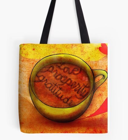 What my #Coffee says to me September 29, 2013 Tote Bag