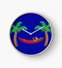 Reindeer Chillaxing Clock