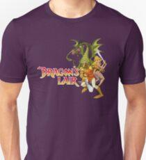 Dragons Lair - White Outline Unisex T-Shirt