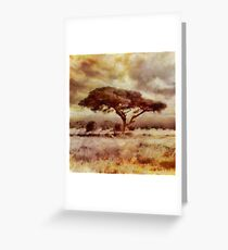 The African Tree by Sarah Kirk Greeting Card