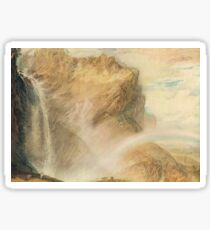 The Upper Reichenbach falls & Rainbow, J M W Turner circa 1818 Sticker