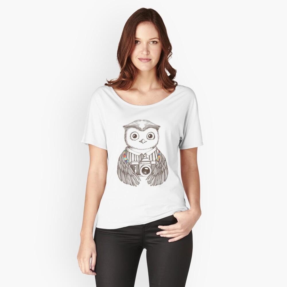 Eule mit Kamera zeichnen Loose Fit T-Shirt
