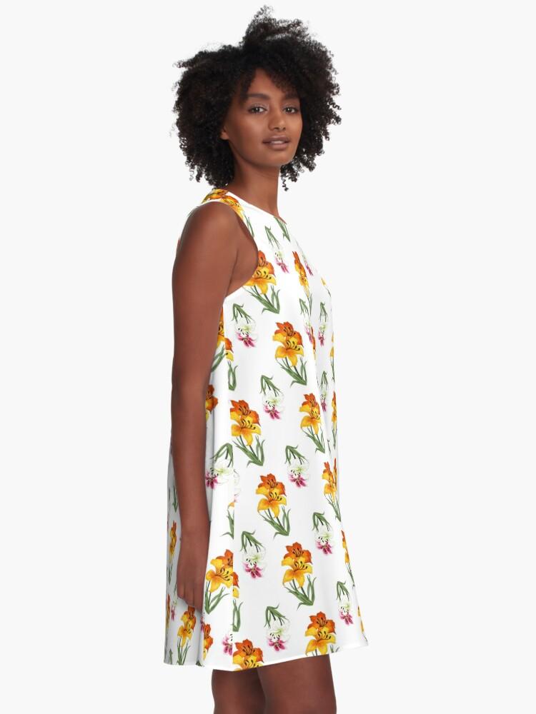 Alternate view of Lilies A-Line Dress