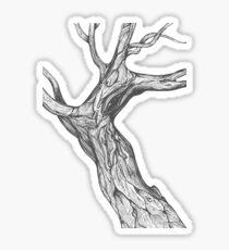 Oak, natural, background, design, illustration, tree, grey Sticker