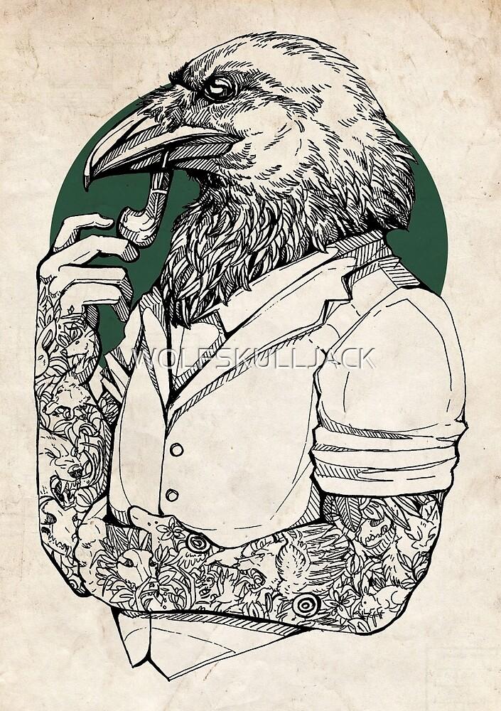 The Crow Man print by WOLFSKULLJACK