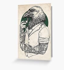 The Crow Man print Greeting Card