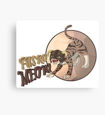 Dragonborn Cat - Fus Ro Meow Metal Print