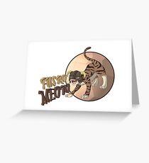 Dragonborn Cat - Fus Ro Meow Greeting Card