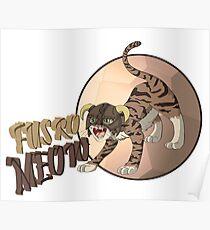 Dragonborn Cat - Fus Ro Meow Poster
