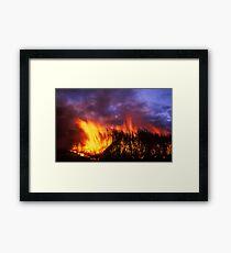 canefiring - Ayr, Nth Qld. Framed Print