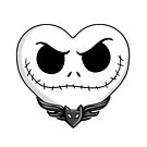 Jack Skellington Heart Art  by samskyler