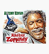 Zorba the Greek Anthony Quinn Alexis Zorbas movie poster Photographic Print