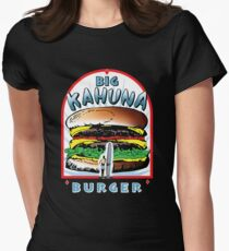 """Big """"KAHUNA"""" Burger - White Back Variant Womens Fitted T-Shirt"""