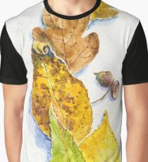 autumn leaves (watercolor on textured background) Graphic T-Shirt