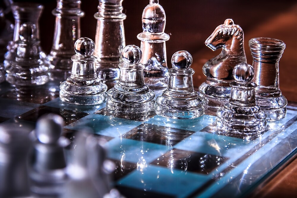 transparent glass chess by SkyLynxDesign