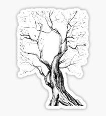 Oak, natural, background, design, illustration, tree black Sticker
