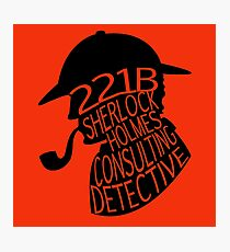 Sherlock Holmes, Consulting Detective Photographic Print