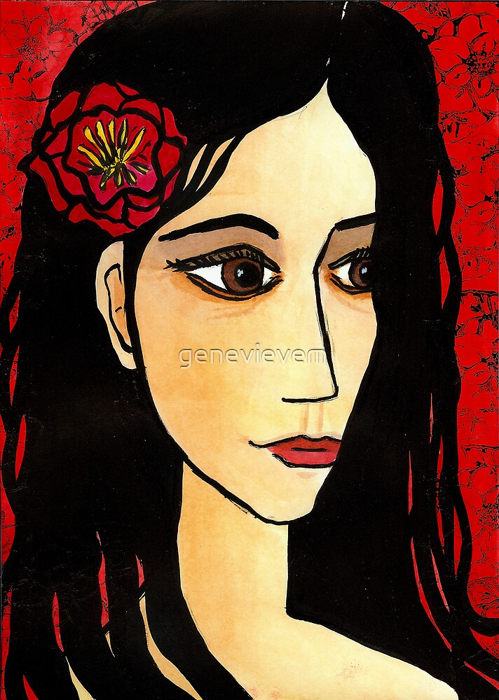 camellia girl by genevievem