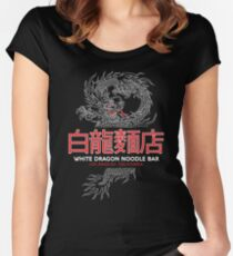 White Dragon Noodle Bar - ½ White Cut Cantonese Variant Women's Fitted Scoop T-Shirt