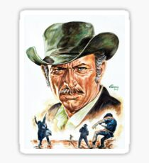 Lee Van Cleef painting portrait Sticker