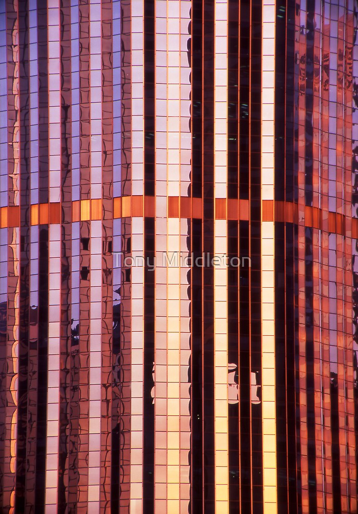 reflective abstract - Brisbane CBD by Tony Middleton