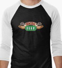 Friends - Central Perk White Outline Variant Men's Baseball ¾ T-Shirt