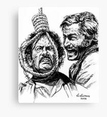 "Eli Wallach Franco Nero movie poster ""Long Live Your Death"" western Canvas Print"